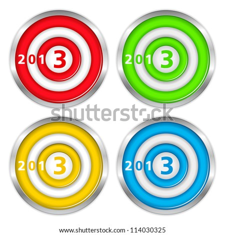 Targets with number 2013, vector eps10 illustration