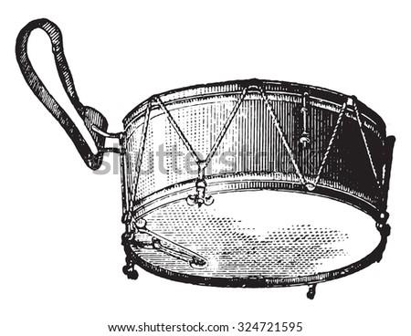 Tarole strings, vintage engraved illustration. Industrial encyclopedia E.-O. Lami - 1875. - stock vector