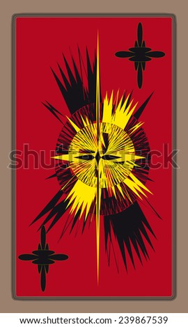 Tarot cards - back design. Coat of arms - stock vector