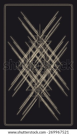 Tarot cards - back design, geometric pattern - stock vector