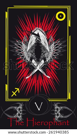 Tarot cards. Major Arcana. The Hierophant - stock vector