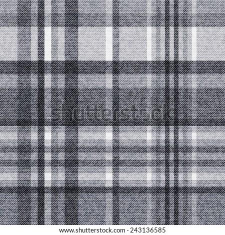 Tartan, checkered seamless fabric background - stock vector