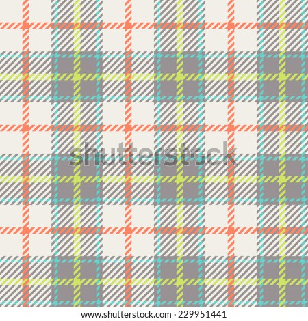 Tartan pattern. gentle colors of red, blue, green. suitable for decoration of children's clothes. - stock vector