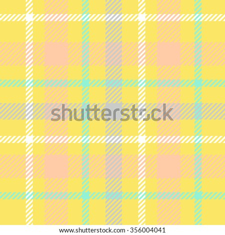 Tartan pattern. Scottish traditional fabric seamless vector. Colorful blue, yellow and white. Suitable for children, decoration, home, design, concept, clothing, handicraft & scrap booking. - stock vector