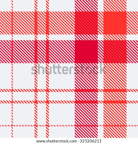 Tartan pattern. Scottish traditional fabric seamless vector. White on black background. Suitable for children, decoration paper, home, design, concept, clothing, handicraft & scrap booking. - stock vector