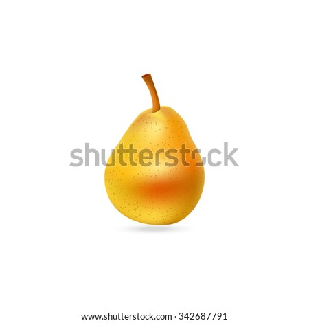 Tasty pear illustration. Fruit icon. - stock vector