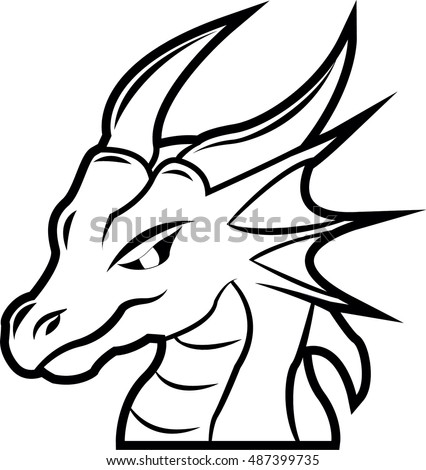 Dragon head stock photos royalty free images vectors for Chinese dragon face template