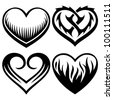 tattoo hearts - stock