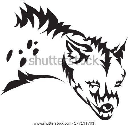 tattoo hyena.vector