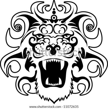 tattoo lion - stock vector