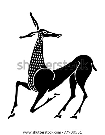 antelope tattoo stock photos images pictures shutterstock. Black Bedroom Furniture Sets. Home Design Ideas