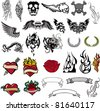 tattoo page - stock vector