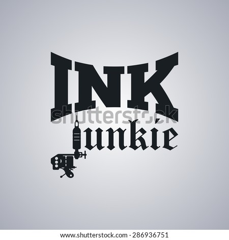 tattoo parlor template - stock vector