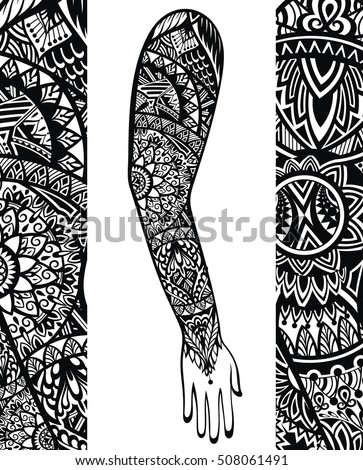 Polynesian tattoo stock images royalty free images for Vector tattoo sleeve