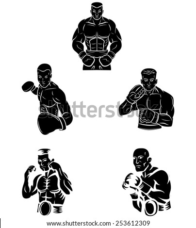 Tattoo Symbol Of Boxer - stock vector