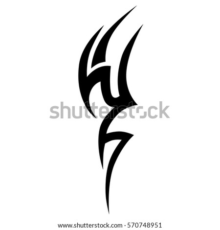Tribal design stock images royalty free images vectors for Easy tribal tattoos