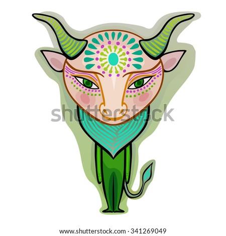taurus - decorative zodiac sign - stock vector