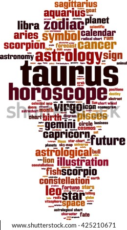 Taurus word cloud concept. Vector illustration