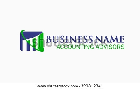 Tax and Accounting Logo - stock vector
