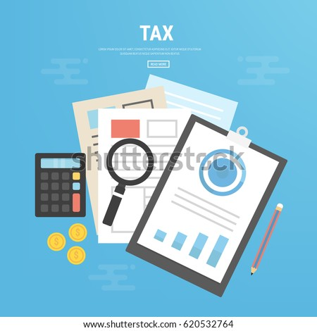 tax calculation budget calculation accounting paperwork ベクター画像