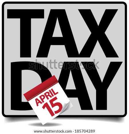 Tax day icon EPS 10 vector, grouped for easy editing. No open shapes or paths. - stock vector