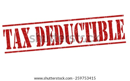 Tax deductible grunge rubber stamp on white background, vector illustration - stock vector