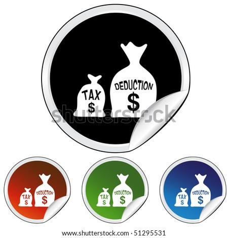 Tax Deduction - stock vector