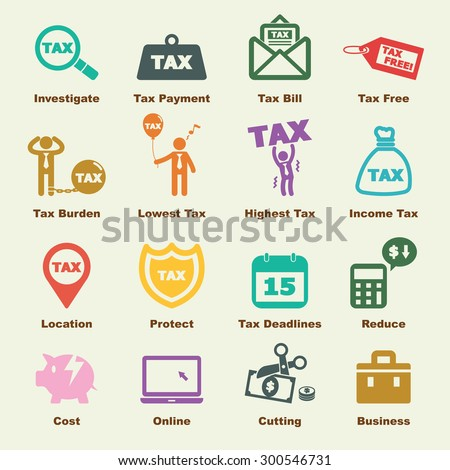 tax elements, vector infographic icons - stock vector