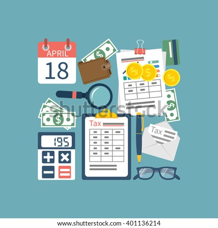 Tax Icon Tax Payment Government State Stock Vector 401136214