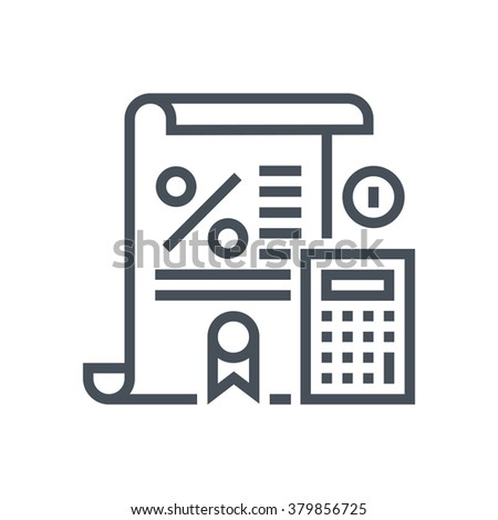 Tax law icon suitable for info graphics, websites and print media and  interfaces. Line vector icon. Human face, head, line vector icon. - stock vector