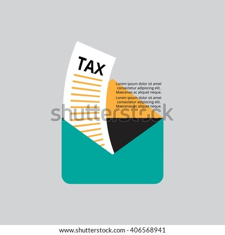 Tax Letter - stock vector
