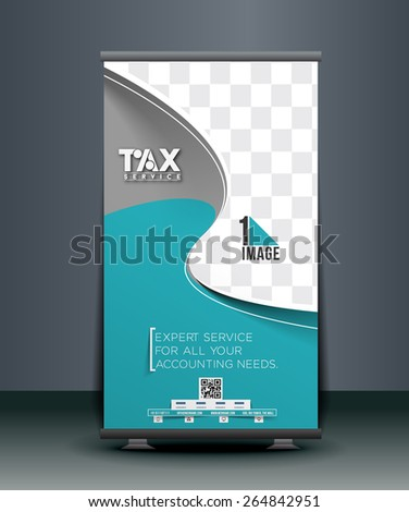 Tax Service Roll Up Banner Design - stock vector