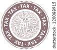 TAX. Vector stamp. - stock photo