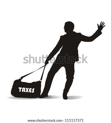 taxation - stock vector
