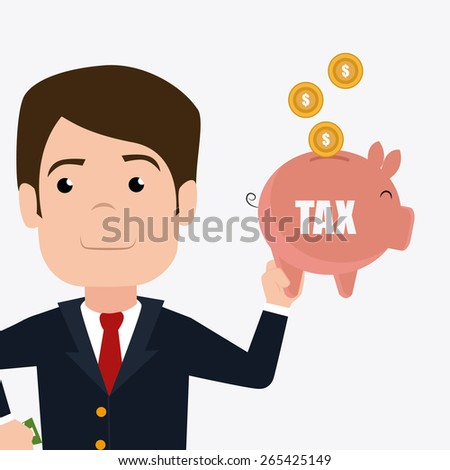 Taxes design over white background, vector illustration. - stock vector