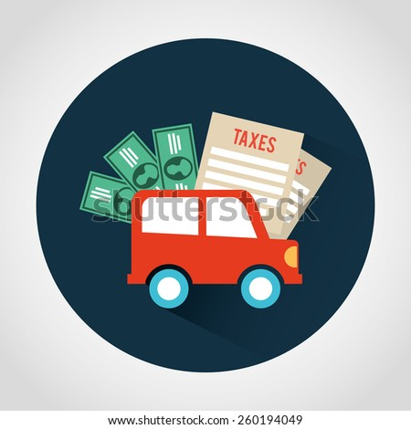 taxes icon design, vector illustration eps10 graphic