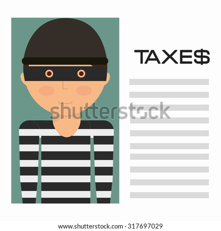 taxes payment design, vector illustration eps10 graphic