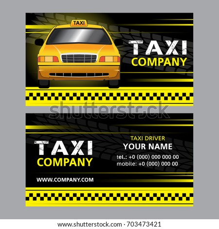 Taxi business card yellow taxi cab stock vector royalty free taxi business card yellow taxi cab in vector template colourmoves
