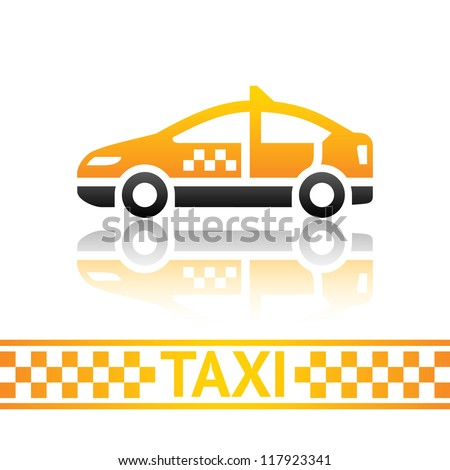 Taxi cab icon - stock vector