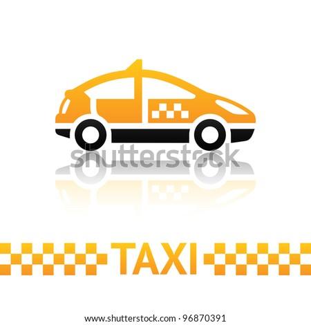 Taxi cab symbol - stock vector
