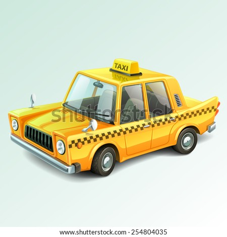 taxi car - stock vector