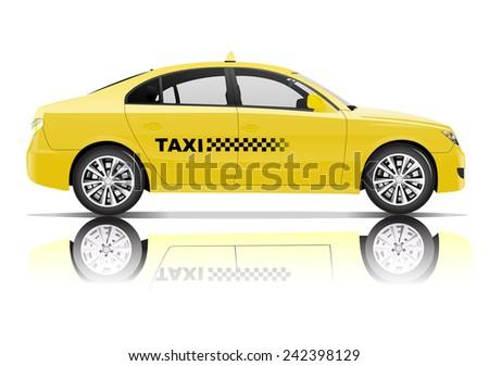 Taxi 3D Vector - stock vector
