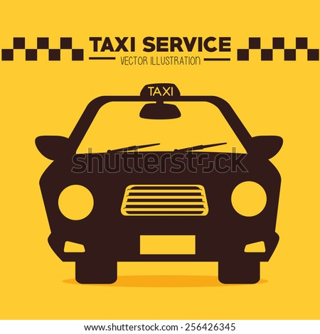 Taxi design over yellow background, vector illustration. - stock vector