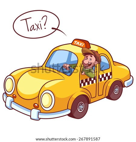 taxi driver car vector clipart illustration stock vector 267891587