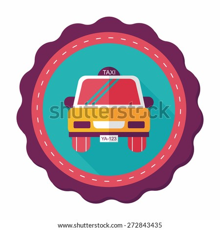 taxi flat icon with long shadow,eps10