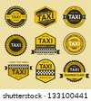 Taxi insignia, vintage style. Vector illustration - stock vector