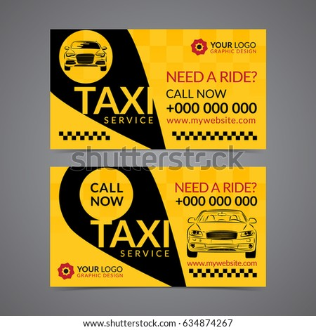 Taxi pickup service business card layout stock vector 634874267 taxi pickup service business card layout template create your own business cards mockup vector reheart