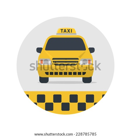 Taxi sign vector illustration. - stock vector