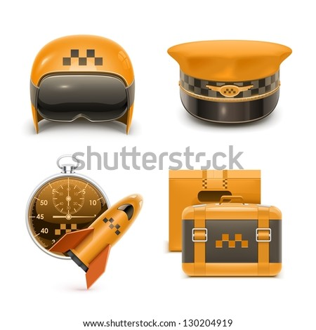 taxi vector xxl icons - stock vector