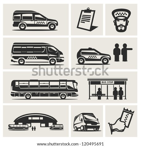 taxis - stock vector